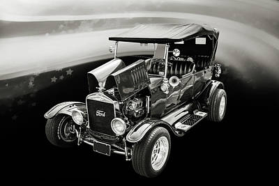 1924 Ford Model T Touring Hot Rod 5509.205 Print by M K  Miller