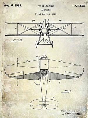 1929 Airplane Patent Print by Jon Neidert