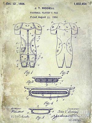 1926 Football Patent Print by Jon Neidert