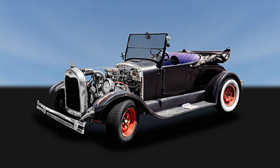 Ford Roadster Photograph - 1927 Ford Model T Roadster Convertible   -   27fdmdtcv325 by Frank J Benz