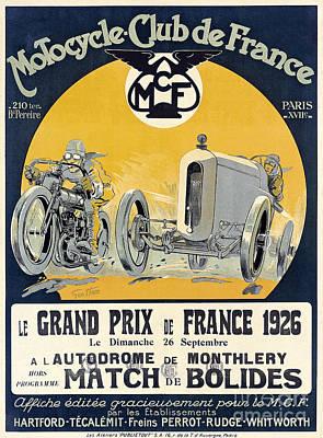 Bike Races Photograph - 1926 Motorcycle Club De France by Jon Neidert
