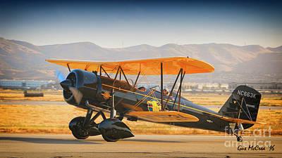 1926 Stearman Speedball  2016 Planes Of Fame Airshow Print by Gus McCrea