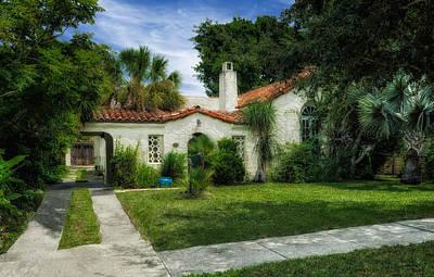 1926 Venetian Style Florida Home - 31 Print by Frank J Benz