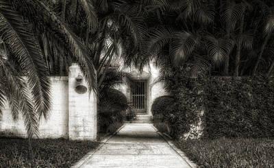 Florida House Photograph - 1926 Venetian Style Florida Home Entrance - 3 by Frank J Benz