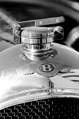 Car Photograph - 1927 Bentley Hood Ornament 2 by Jill Reger