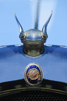 1928 Chrysler Model 72 Deluxe Roadster Hood Ornament - Emblem -0806c Print by Jill Reger