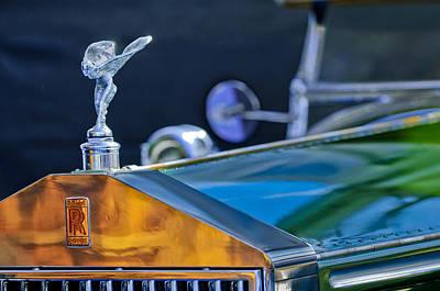1928 Photograph - 1928 Rolls-royce Phantom I Derby Speedster Hood Ornament by Jill Reger