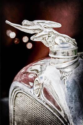 1928 Studebaker Hood Ornament -0818ac Print by Jill Reger