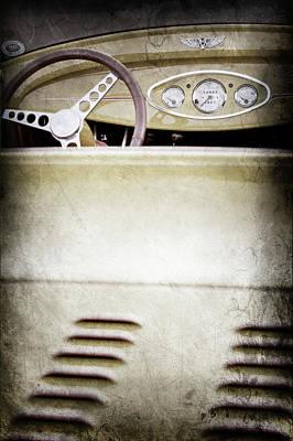 1929 Ford Model A Roadster -0043ac Print by Jill Reger
