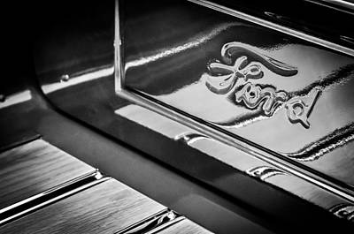Ford Roadster Photograph - 1929 Ford Roadster Pickup Truck -0158bw by Jill Reger