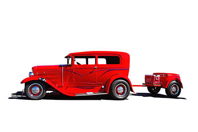 Old Police Cruiser Photograph - 1930 Ford Sedan by Nick Gray