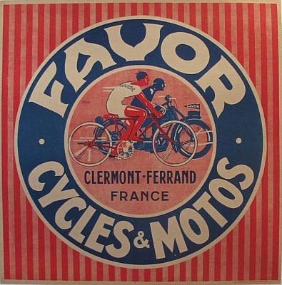1930s French Art Deco Poster Cycles Favor By Jean Pruniere Original by Jean Pruniere