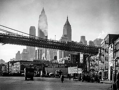 Nyc Photograph - 1930's Manhattan by Visions of History