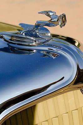 1931 Chrysler Cn Roadster Hood Ornament 3 Print by Jill Reger