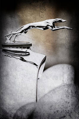 Lincoln Photograph - 1931 Lincoln K Hood Ornament -1837ac by Jill Reger