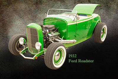 1932 Ford Roadster Color Photographs And Fine Art Prints 004.02 Print by M K  Miller
