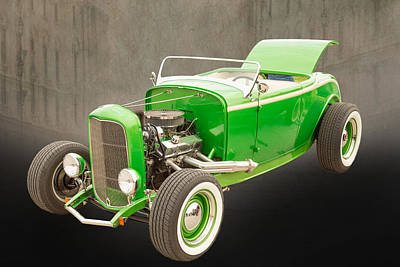 1932 Ford Roadster Color Photographs And Fine Art Prints 005.02 Print by M K  Miller