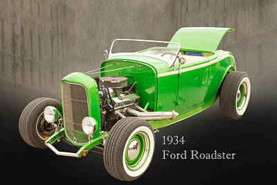 1932 Ford Roadster Color Photographs And Fine Art Prints 006.02 Print by M K  Miller