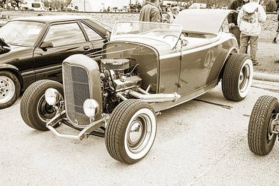 1932 Ford Roadster Sepia Posters And Prints 021.01 Print by M K  Miller