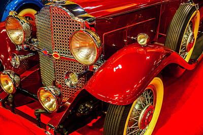 Headlight Photograph - 1932 Packard Model 902 Rumble Seat Coupe by Garry Gay