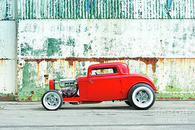 Ford Street Rod Photograph - 1932 Red Rod by Tim Gainey