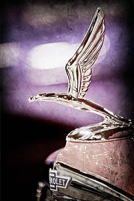 1933 Chevrolet Eagle Hood Ornament -0484ac Print by Jill Reger