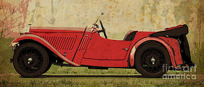 1933 Singer Nine Sports Print by Pablo Franchi
