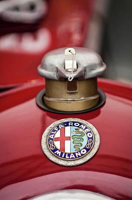 1934 Alfa Romeo Tipo B Hood Emblem Print by Jill Reger