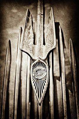 1934 Chrysler Airflow Hood Ornament - Emblem -0100s Print by Jill Reger