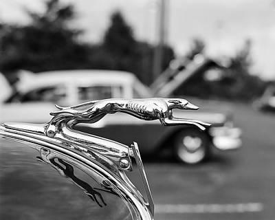 Classic Auto Photograph - 1934 Ford V8 Hood Ornament by Jon Woodhams