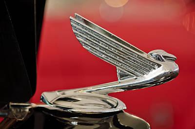 1935  Chevrolet Eagle Hood Ornament Print by Jill Reger