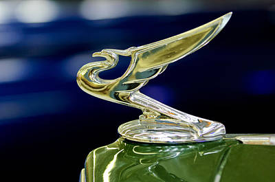 Hoodie Photograph - 1935 Chevrolet Hood Ornament by Jill Reger