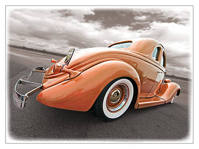 Ford Street Rod Photograph - 1935 Ford Coupe In Bronze by Gill Billington