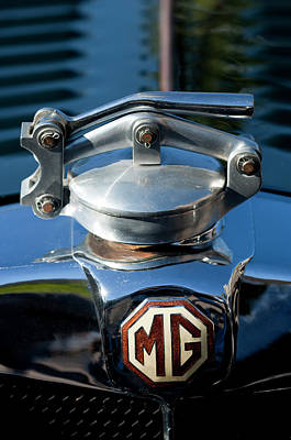 Hoodie Photograph - 1935 Mg Na Magnette Hood Ornament by Jill Reger