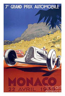 1935 Monaco Grand Prix Print by Jon Neidert