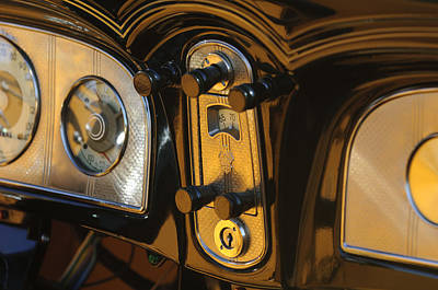 1935 Packard Console Print by Jill Reger