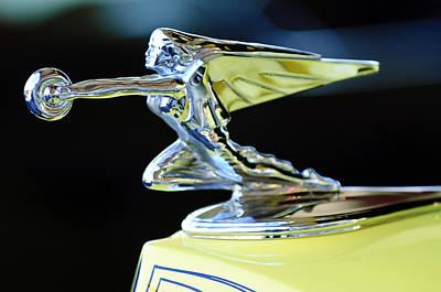 1935 Packard Hood Ornament Print by Jill Reger