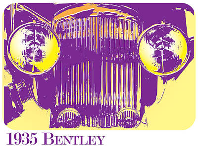 Bentley Digital Art - 1935 Bentley by Greg Joens
