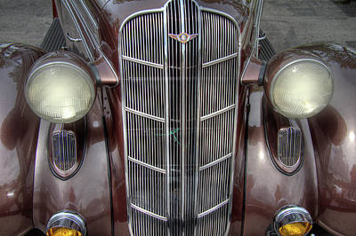 Mascot In Chrome Photograph - 1936 Dodge Grille by Nick Gray