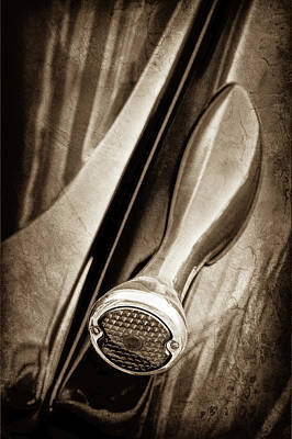 1936 Ford Phaeton Taillight -0271s Print by Jill Reger