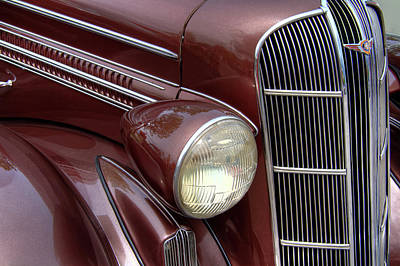 Mascot In Chrome Photograph - 1936 Vintage Dodge Grill by Nick Gray