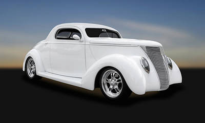 Ford Street Rod Photograph - 1937 Ford Coupe  -  1937fdcp431 by Frank J Benz