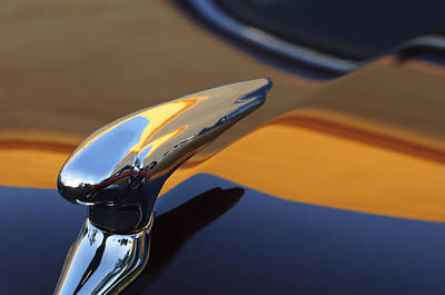 Hoodie Photograph - 1937 Ford Hood Ornament 3 by Jill Reger