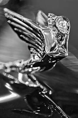 1938 Cadillac V16 Hood Ornament Print by Jill Reger