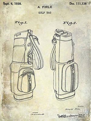 1938 Golf Bag Patent Print by Jon Neidert