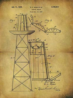 1939 Airport Beacon Patent Print by Dan Sproul