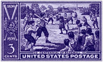 Baseball History Painting - 1939 Baseball Centennial by Historic Image