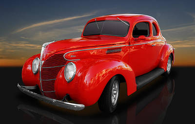 Ford Street Rod Photograph - 1939 Ford Coupe by Frank J Benz
