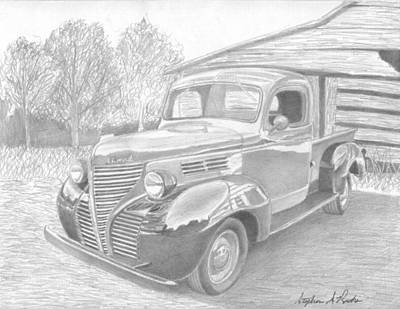 1939 Plymouth Pickup Truck Art Print Print by Stephen Rooks