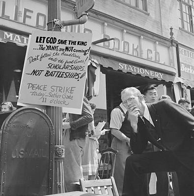 Anti-war Photograph - 1940 Peace Strike At Berkeley by Everett